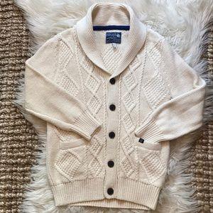 Joules Knitwear girls cream cardigan sweater heavy